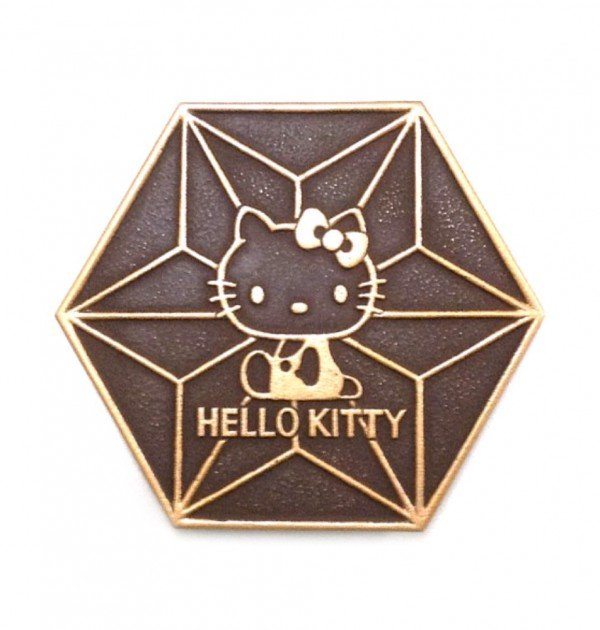 IWACHU Nanbu-Tekki Hello Kitty Teapot Coaster - Golden Brown