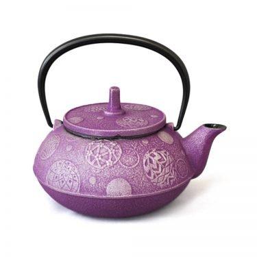 IWACHU Nanbu Cast Iron Teapot - Testubin Handmade Mari Series Purple