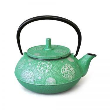 IWACHU Nanbu Cast Iron Teapot - Testubin Handmade Mari Series Green
