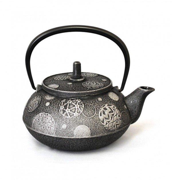 IWACHU Nanbu Cast Iron Teapot - Testubin Handmade Mari Series Charcoal Grey