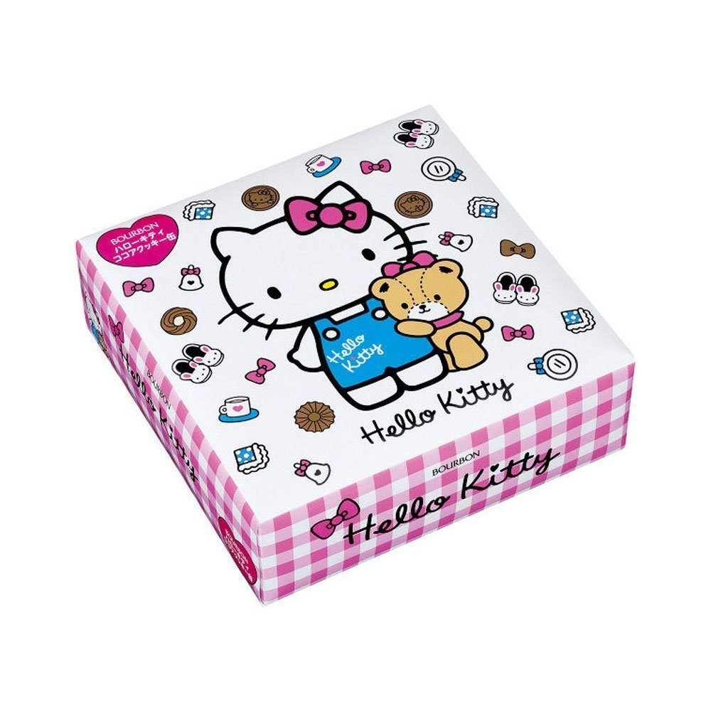 bcd104659 BOURBON Hello Kitty 54 Cocoa Cookies Assorted Cute Tin Limited ...
