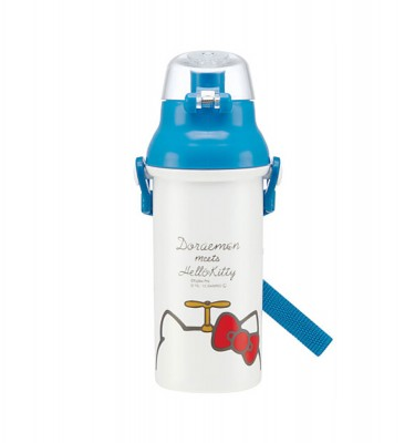 DORAEMON & HELLO KITTY Water Bottle - Made in Japan