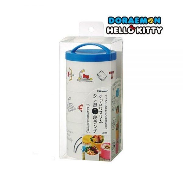 DORAEMON & HELLO KITTY Triple Bento Box - Made in Japan