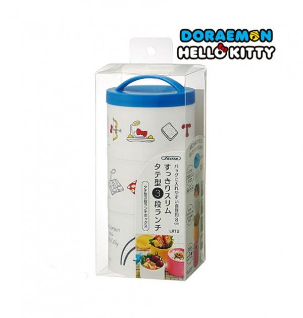 DORAEMON & HELLO KITTY Triple Bento Box - Made in Japan