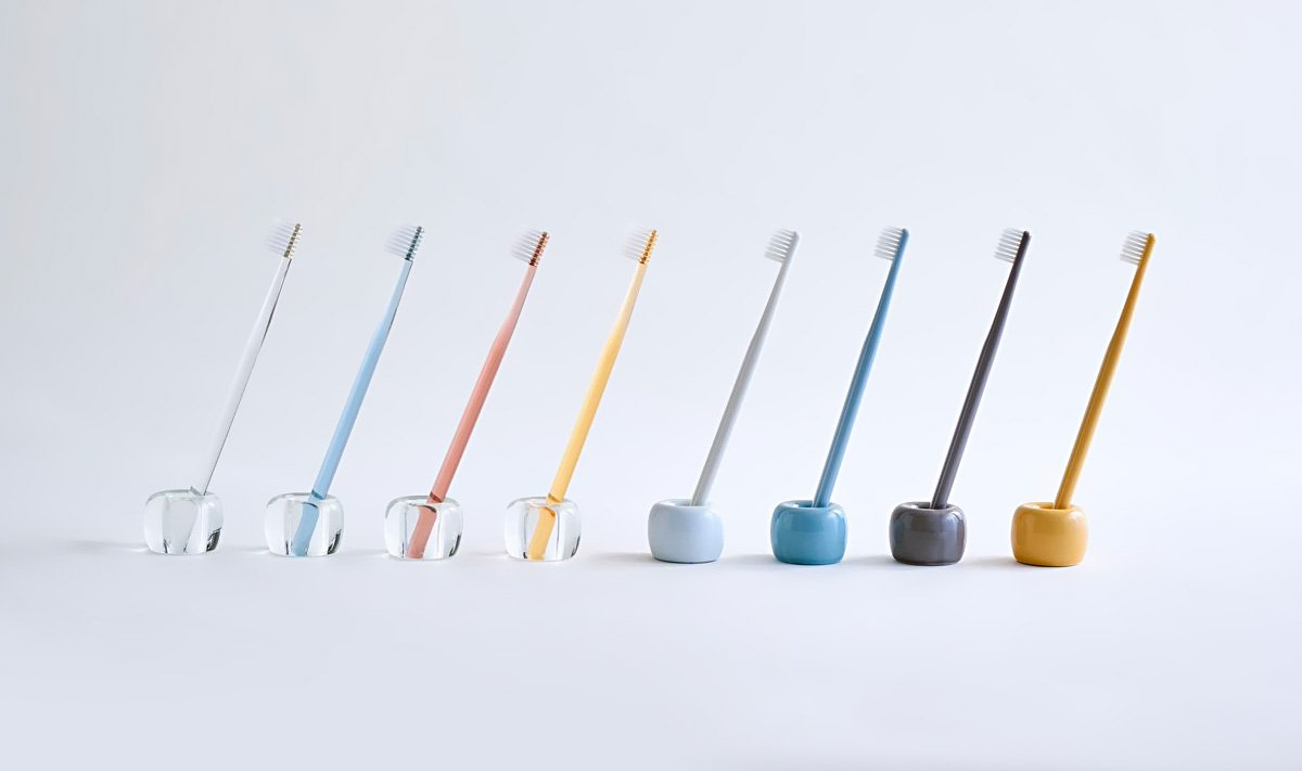 MUJI Flat Type Toothbrush 4 Colour Set