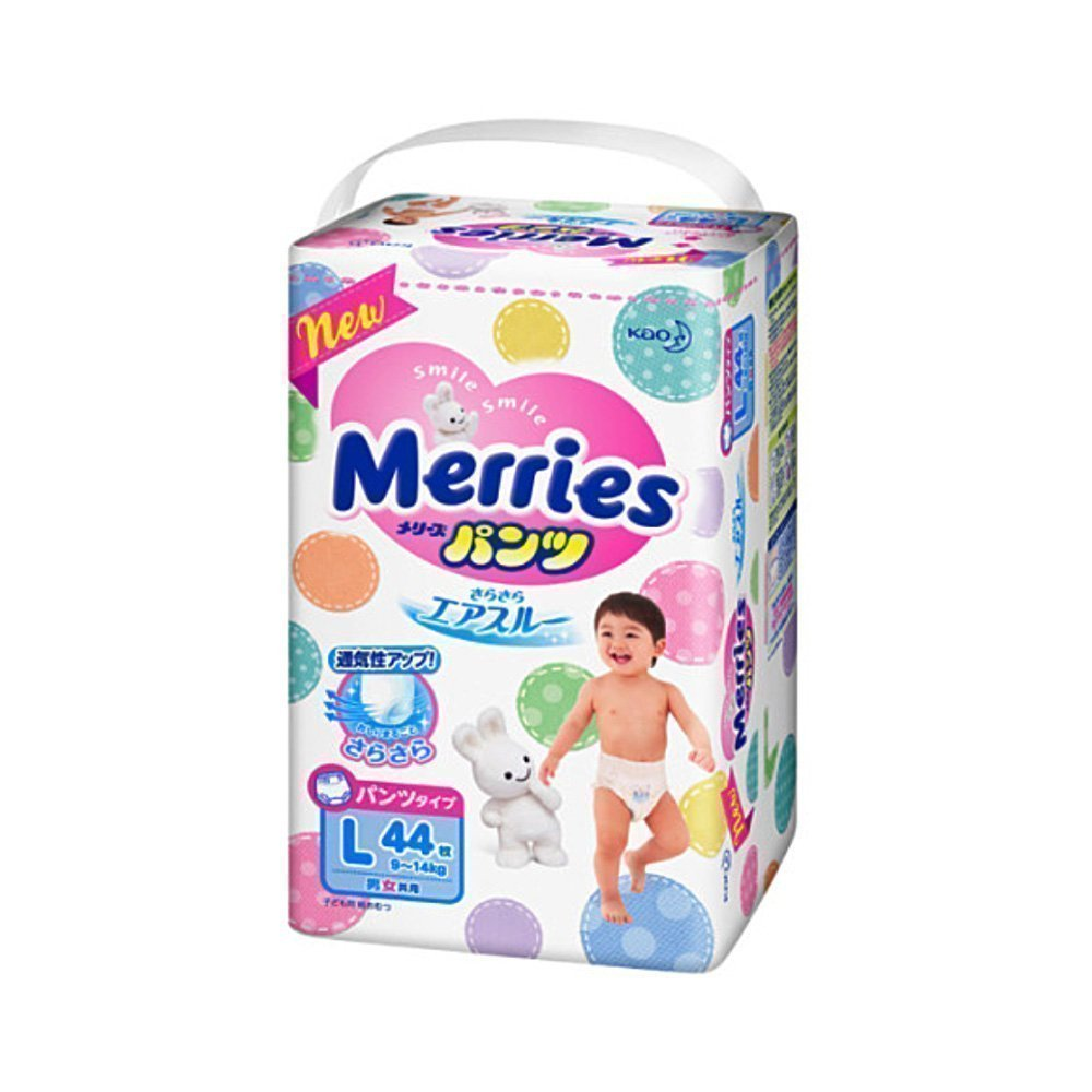 KAO Merries Nappies - Sarasara Air Through 9 - 14 Kg L-Size