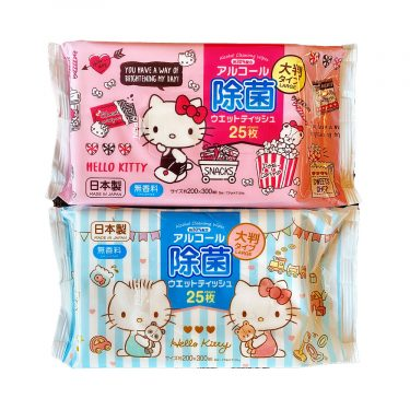 SANRIO Hello Kitty Wet Tissues Sheets Made in Japan