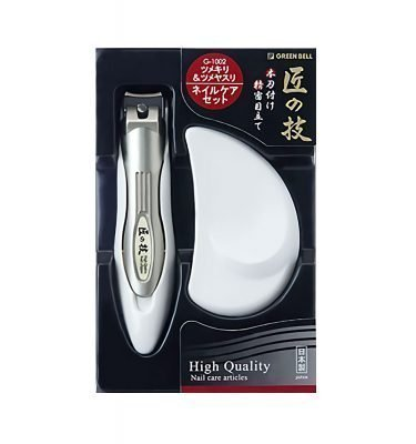 TAKUMINOWAZA Stainless Nail Clipper with Stainless Nail File - Handmade in Japan