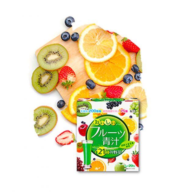 YUWA Delicious Fruit Aojiru Made in Japan