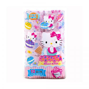 SANRIO Hello Kitty Toilet Paper - Triple Ply with Strawberry Fragrance