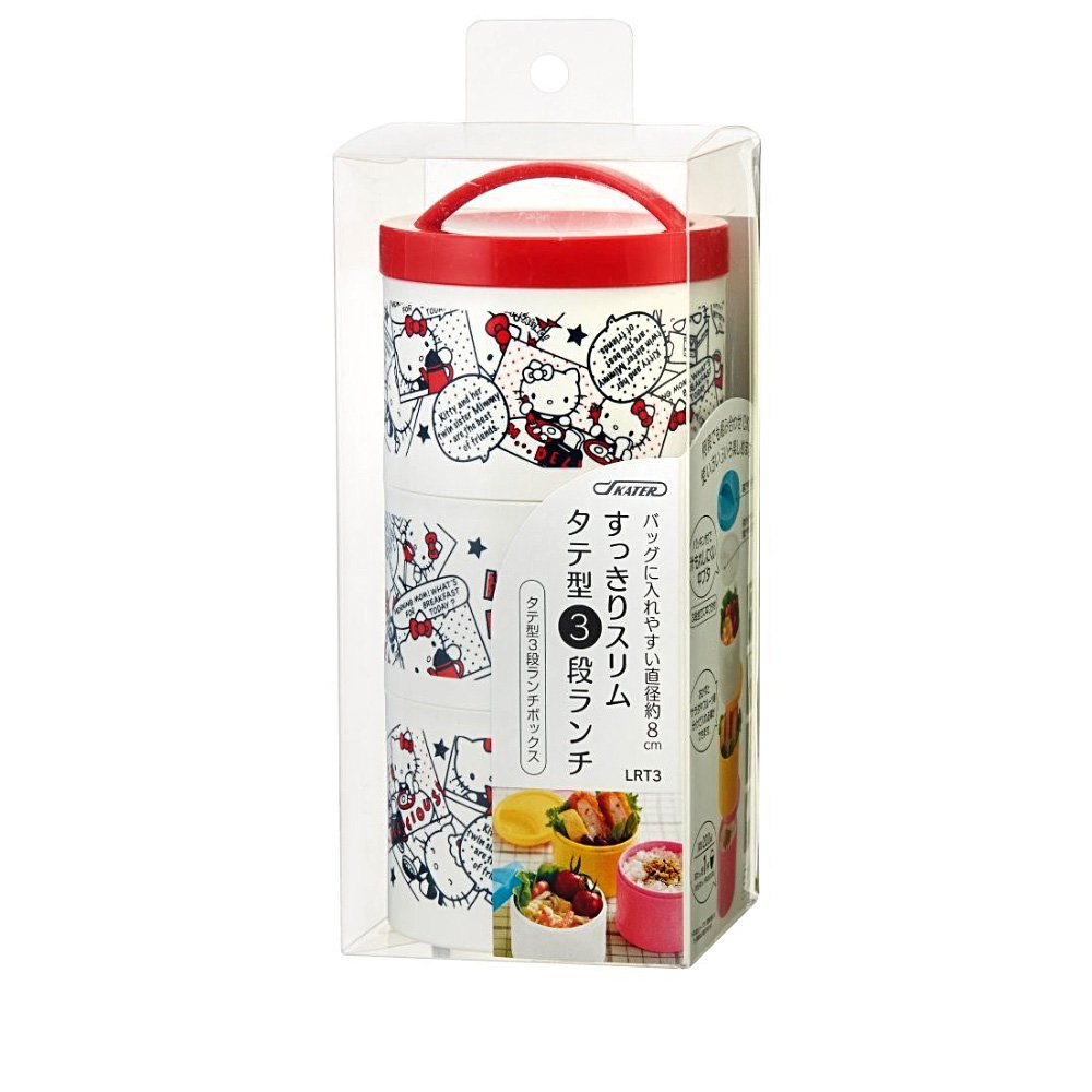 HELLO KITTY Triple Lunch Box - Comic Made in Japan