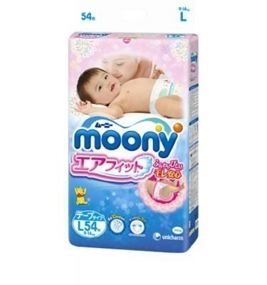 MOONY Airfit Large Size - Tape Type 54 Sheets