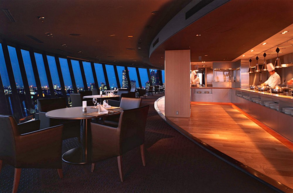View and Dining the Sky at Hotel New Otani (Source: www.newotani.co.jp)