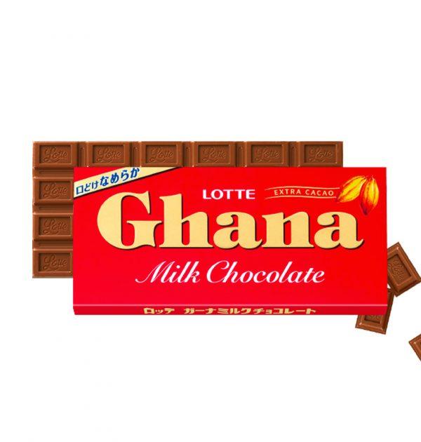 LOTTE Ghana Milk Chocolate Bar