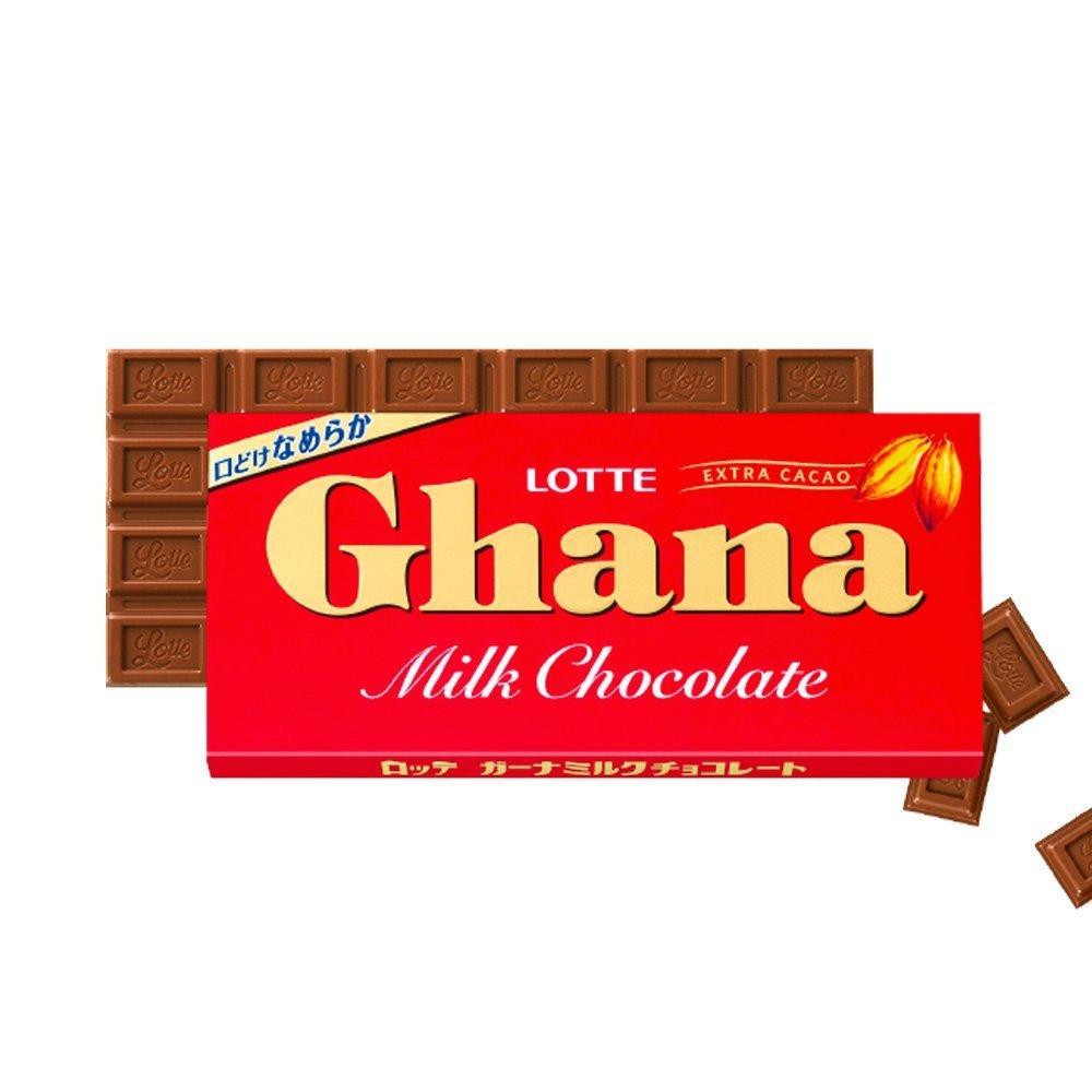 LOTTE Ghana Milk Chocolate Bar 50g - Made in Japan
