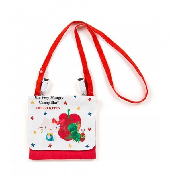 SANRIO Hello Kitty and The Very Hungry Caterpillar Pocket Pouch