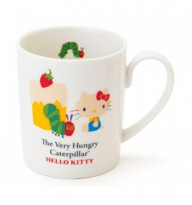 SANRIO Hello Kitty and Very Hungry Caterpillar Mug Cup