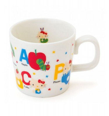 SANRIO Hello Kitty and Very Hungry Caterpillar Mug Cup for Kids