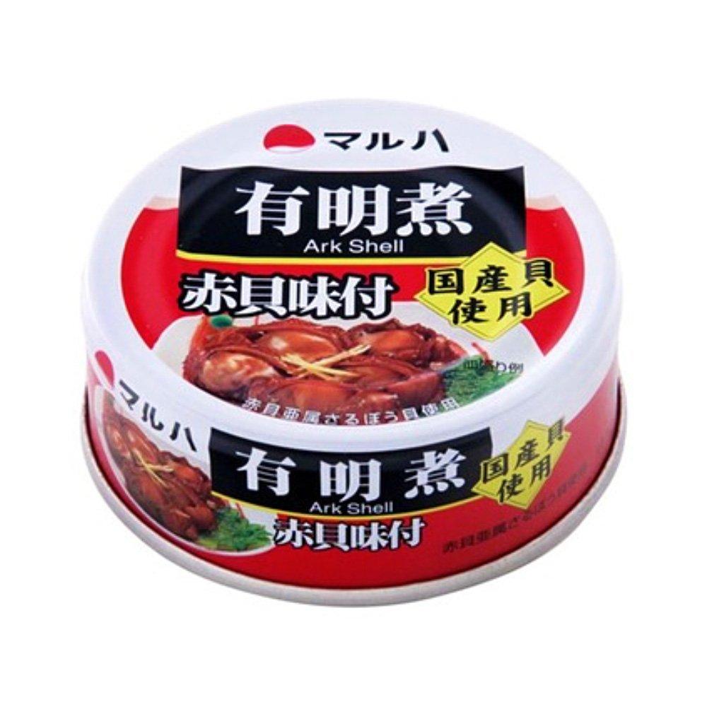 MARUHA Canned Ariakeni Japanese Ark Shell 65g x 3 Made in Japan