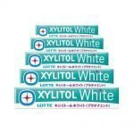 LOTTE XYLITOL Japanese White Gum Platinum Mint 14 Pcs 5 Packs