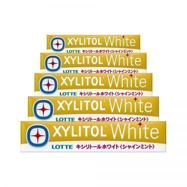 LOTTE XYLITOL White Gum - Shine Mint 14 Pcs x 5 Packs