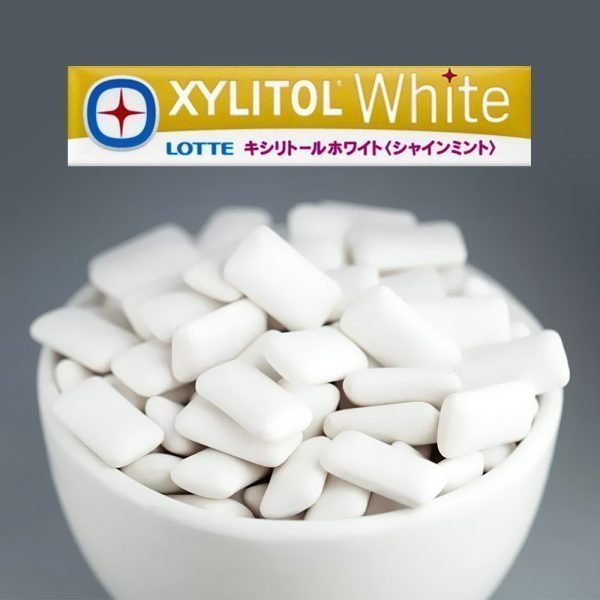 LOTTE XYLITOL Japanese White Gum Shine Mint 14 Pcs 5 Packs
