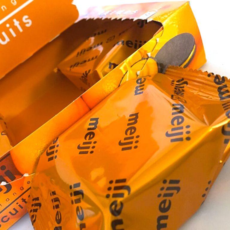 Meiji Rich Orange Biscuits 6 Pcs