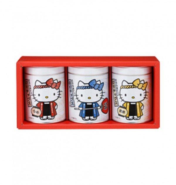 YAMAMOTO NORITEN Hello Kitty Seaweed Snack Gift Pack - 20g x 3 Cans
