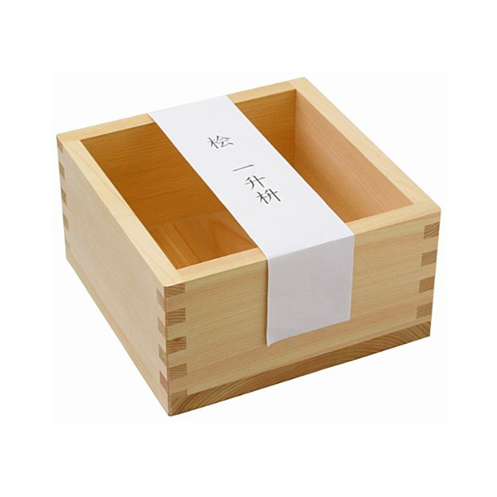 Hinoki Wooden Masu 1800ml - Japanese Cypress Sake Square Box