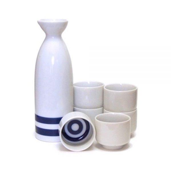 Mino Ware Kikizake Sake Tasting Set Single - Janome Double Ring