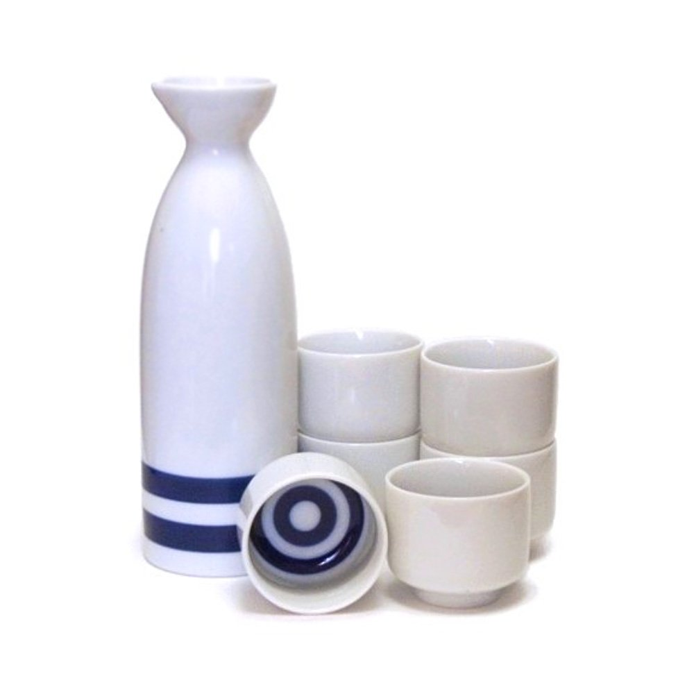 Mino Ware Kikizake Sake Tasting Set Single - Janome Double Ring