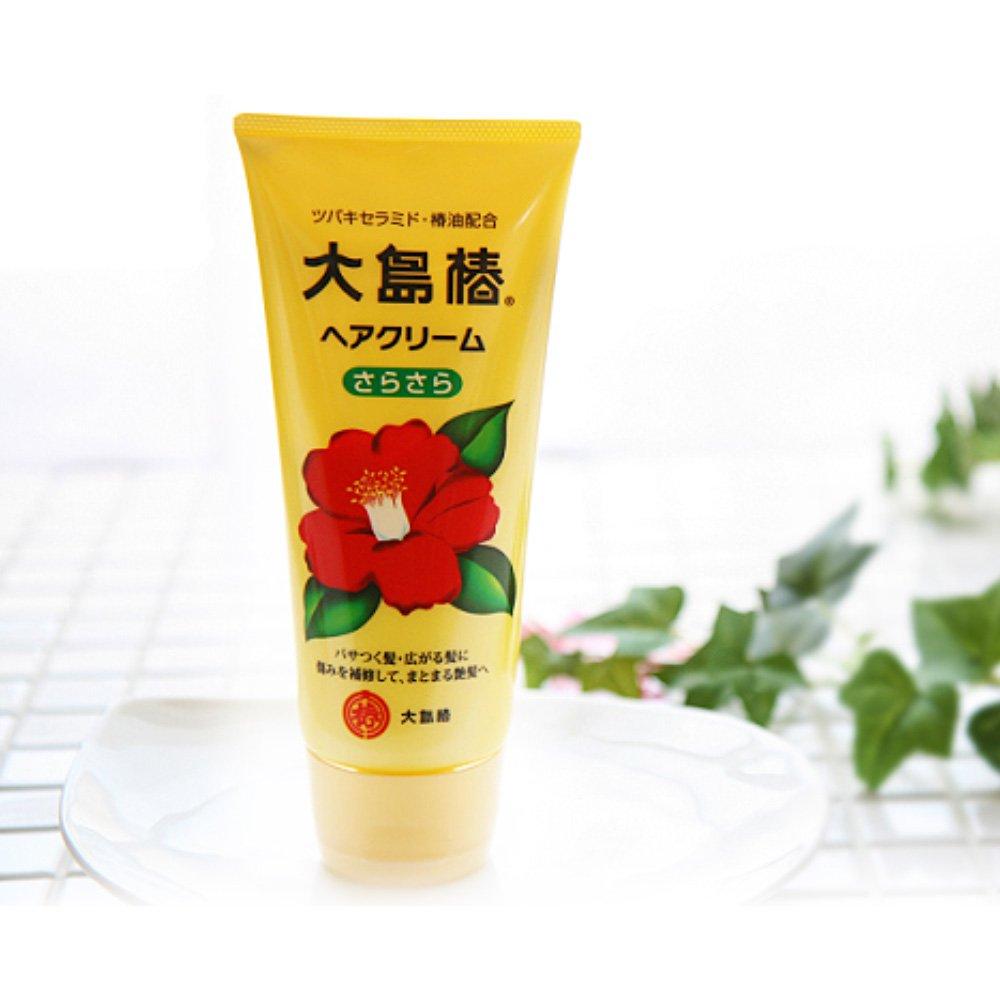 Oshima Tsubaki Hair Cream Sara Sara 160g Made In Japan