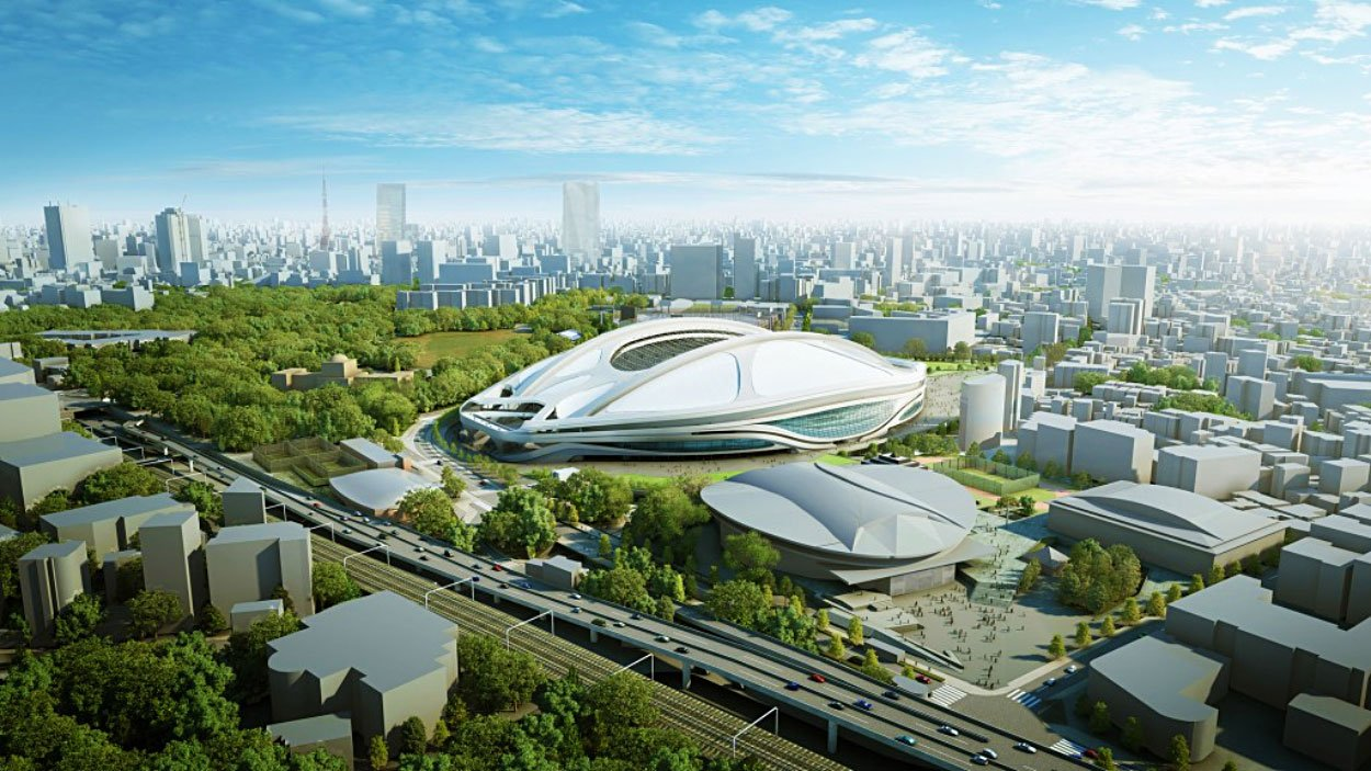 Iraqi-British architect Zaha Hadid's design for the new National Stadium, Tokyo (Source: http://bit.ly/1NOV22O)