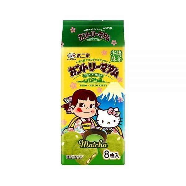 FUJIYA Country Ma'am Peco x Hello Kitty - Chocolate Chip Matcha 8 pcs