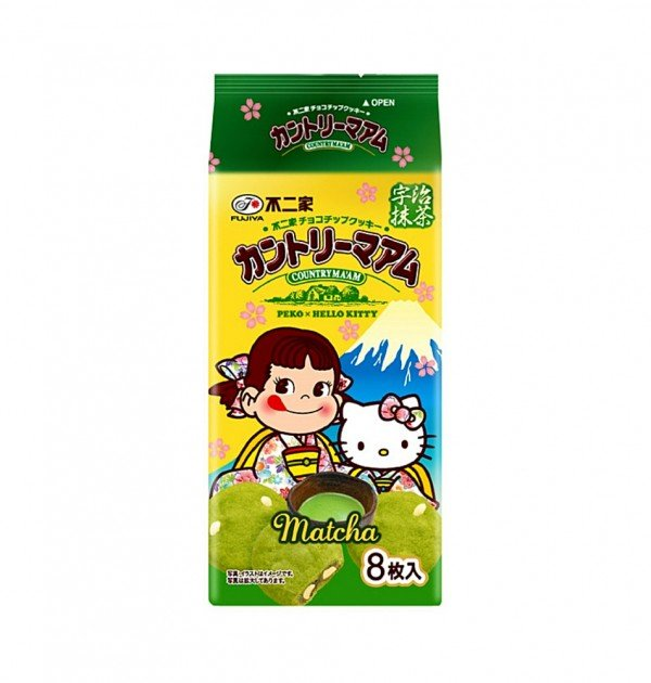 FUJIYA Country Ma'am Peco x Hello Kitty - Chocolate Chip Matcha 8 pcs