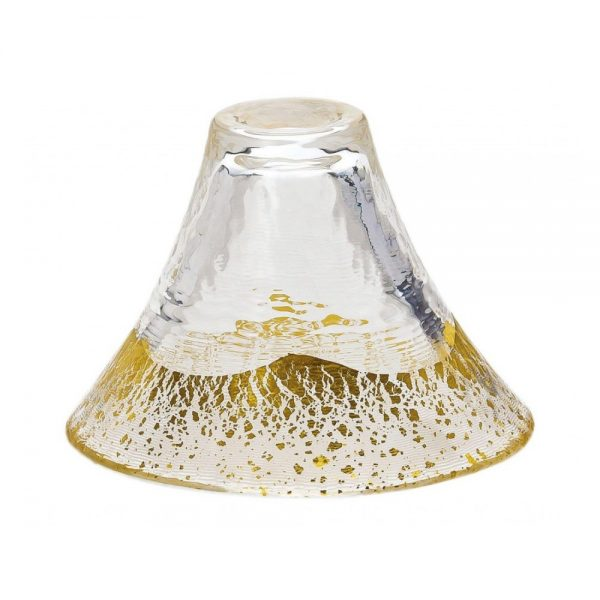 Sake Sakazuki Glass - Mount Fuji Gold