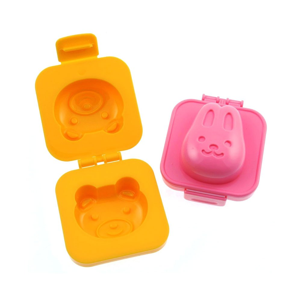 Boiled Egg Shaper Mold Rabbit and Bear - Kitchen Cooking Obento