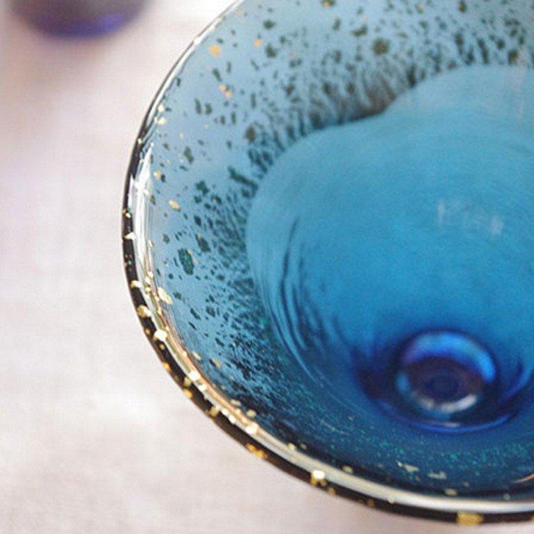 Sake Sakazuki Glass - Mount Fuji Navy Blue