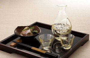 Cold Sake Set - Ice Pocket Amber
