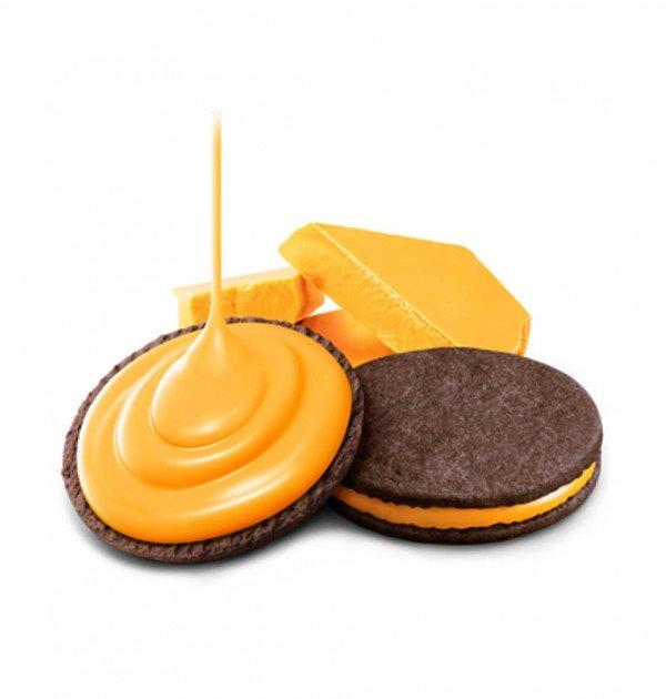 Meiji Rich Orange Biscuits 6 Pcs x 5 Boxes