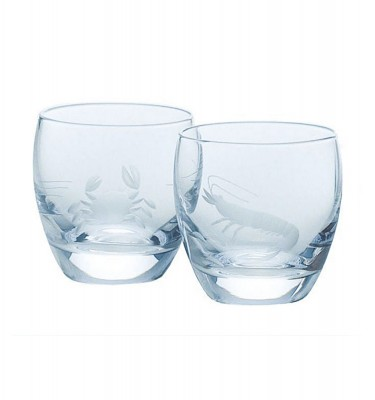 TOYO SASAKI GLASS Cold Sake Set - Ice Pocket Blue