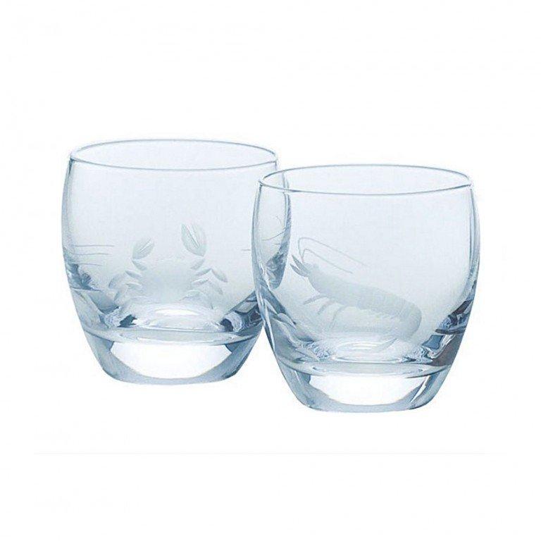 TOYO SASAKI GLASS Cold Sake Set - Ice Pocket Blue