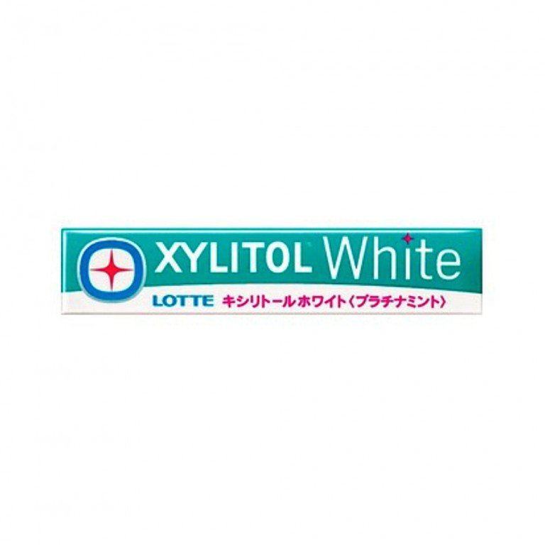 LOTTE XYLITOL White Gum - Platinum Mint 14 Pcs x 5 Packs