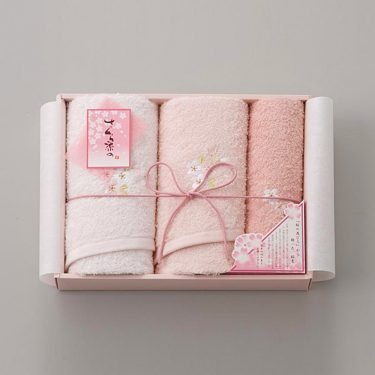 Sakura Dye Double Face Towel Gift Set - 100% Cotton Made in Japan