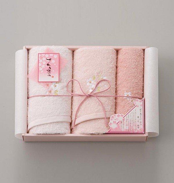 Sakura Dye Double Face Towel Gift Set - 100% Cotton Made in Japan