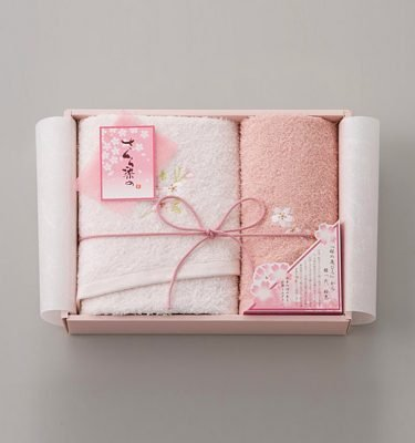 Sakura Dye Face Towel Gift Set - 100% Cotton Made in Japan