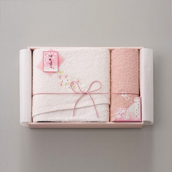 Sakura Dye Bath Towel Gift Set - 100% Cotton Made in Japan