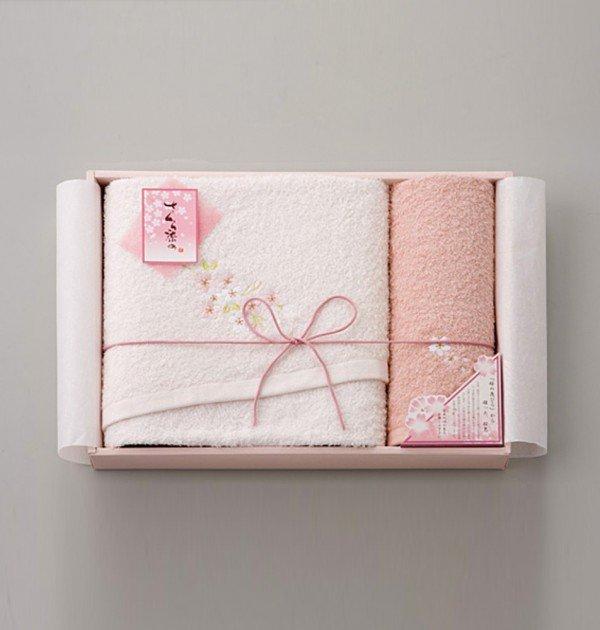 Sakura Dye Bath Towel Gift Set - 100% Cotton Made in Japan