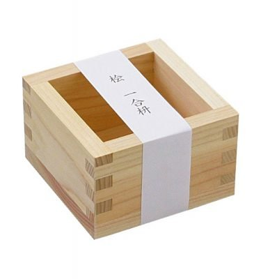 Hinoki Wooden Masu - Japanese Cypress Sake Square Box