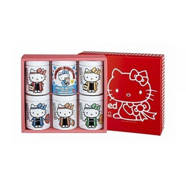 YAMAMOTO NORITEN Hello Kitty Seaweed Snack Gift Pack - 20g x 6 Cans